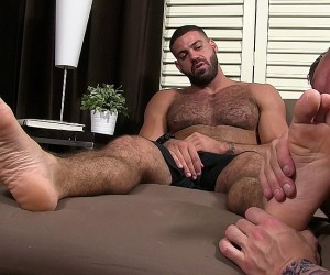 Hugh Hunter Worships Ricky Larkin  Ricky